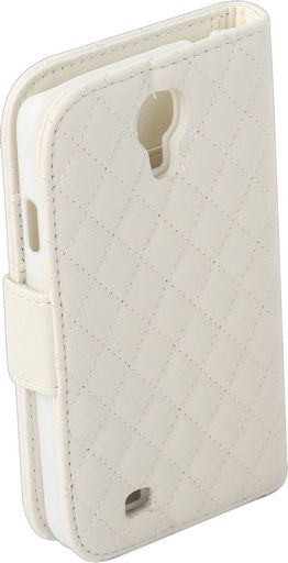 LATTICE TEXTURE LEATHER CASE WITH CARD HOLDER & STAND