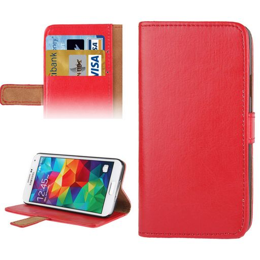 CRAZY HORSE LEATHER WALLET CASE WITH CARD HOLDER & STAND