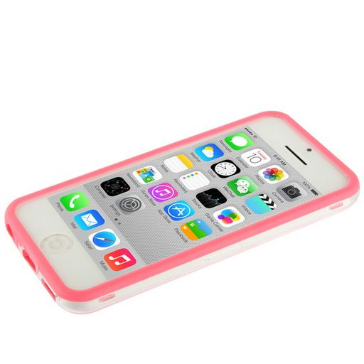 TRANSPARENT BUMPER CASE WITH COLOURED FRAME