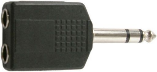6.35MM STEREO PLUG TO 2X STEREO SOCKET