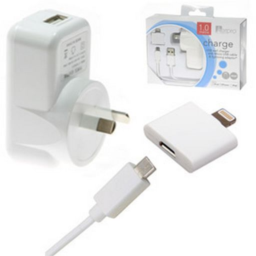 CHARGER TO USB PORT 2.1A APPLE CERTIFIED