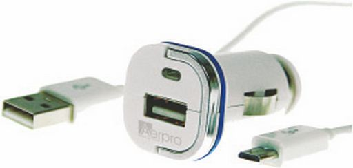 CAR CHARGER AERPRO 2.1A MICRO-USB