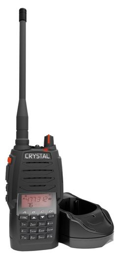 CRYSTAL HANDHELD UHF CB RADIO 5W - RECHARGEABLE