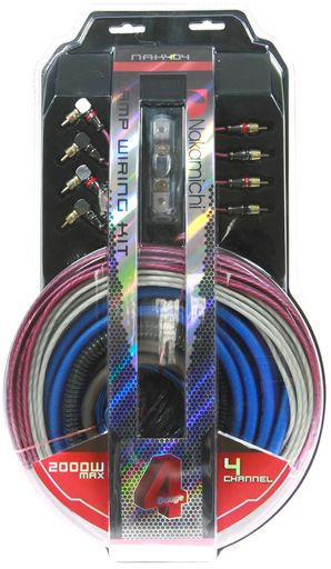 NAKAMICHI WIRING KIT 4 AWG - 4 CHANNEL