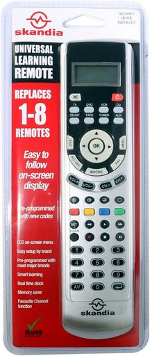 PRE-PROGRAMMED & LEARNING REMOTE LCD