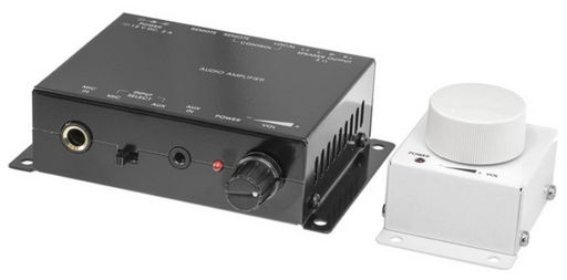 ZONE AMPLIFIER WITH MIC INPUT AND WIRED REMOTE VOLUME - PRO2