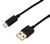 USB TO REVERSIBLE MICRO USB CABLE 1M