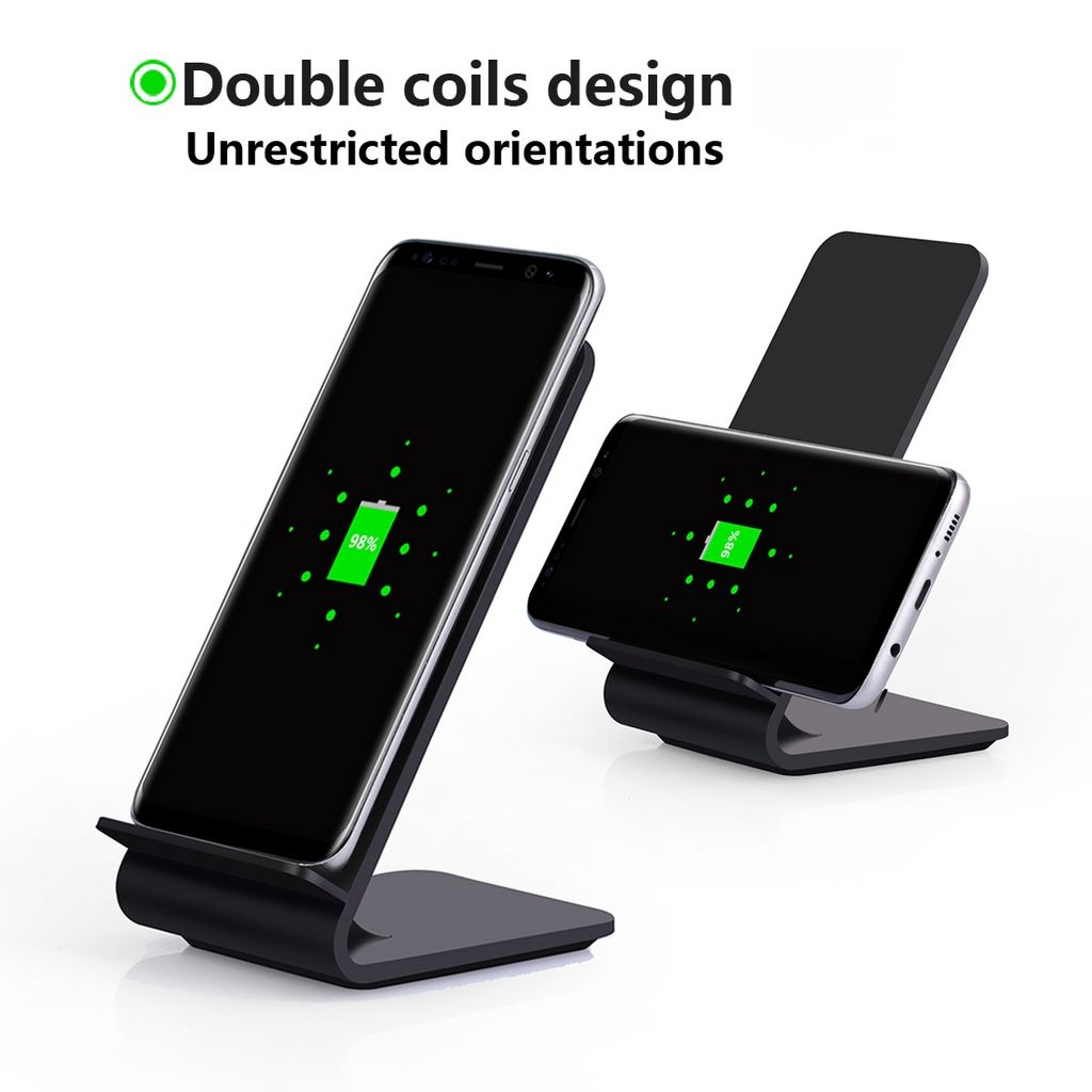wct1011 high power qi wireless charger stand chargers. Black Bedroom Furniture Sets. Home Design Ideas